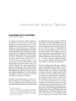 Arqueología de la Arqueología
