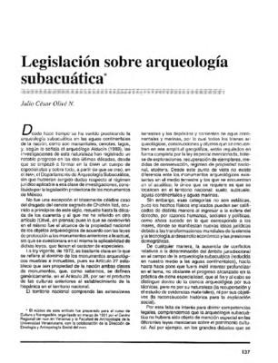 Legislación sobre arqueología subacúatica