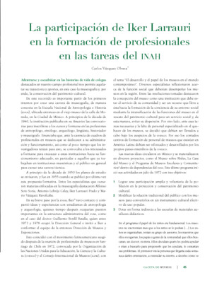 La participación de Iker Larraurien la formación de profesionales en las tareas del INAH