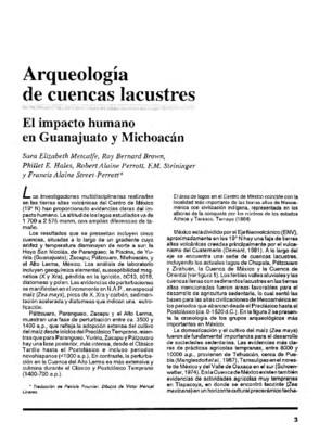 Arqueología de cuencas lacustres