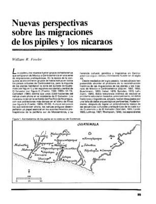 Nuevas perspectivas sobre las migraciones de los pipiles y los nicaraos