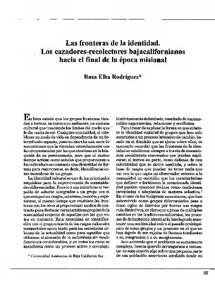Las fronteras de la identidad. Los cazadores-recolectores bajacalifornianos hacia el final de la época misional