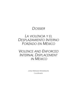Violencia y desplazamiento interno forzado en México