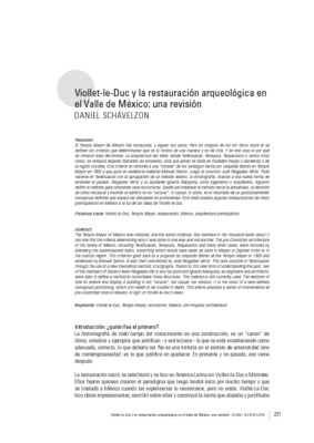 Viollet-le-Duc y la restauración arqueológica en el Valle de México: una revisión