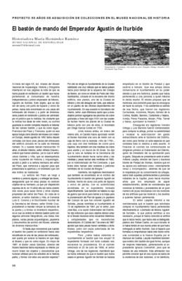 El bastón de mando del Emperador Agustín de Iturbide
