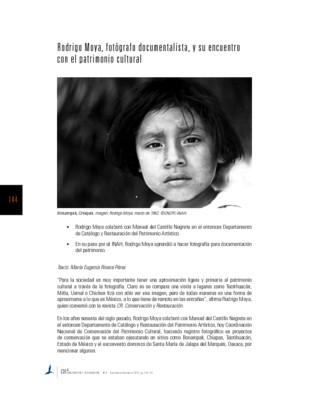 Rodrigo Moya, fotógrafo documentalista, y su encuentro con el patrimonio cultural