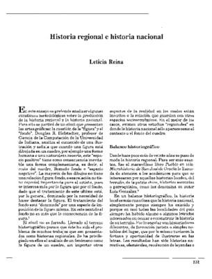 Historia regional e historia nacional