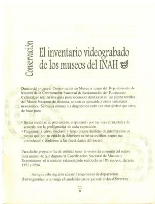 El inventario videograbado de los museos del INAH