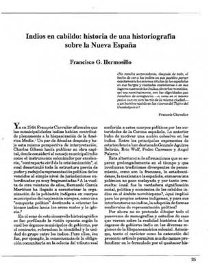 Indios en cabildo: historia de una historiografía sobre la Nueva España