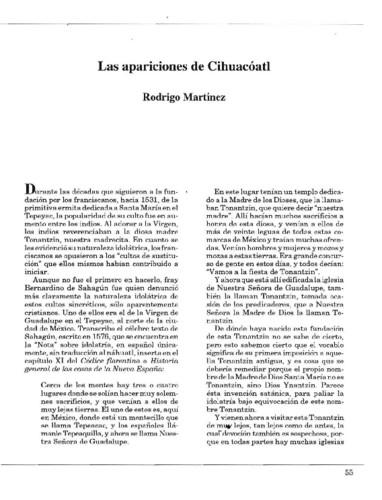 Las apariciones de Cihuacóatl