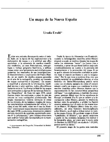 Un mapa de la Nueva España