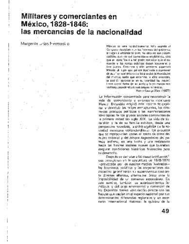 Militares y comerciantes en México, 1828-1846: las mercancías de la nacionalidad