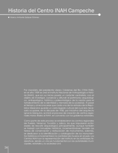 Historia del Centro INAH Campeche