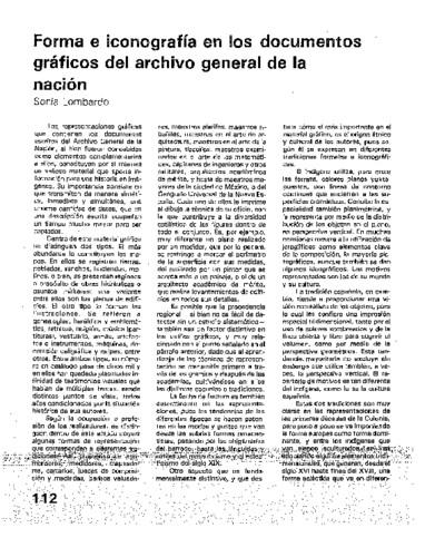 Forma e iconografía en los documentos gráficos del Archivo General de la Nación