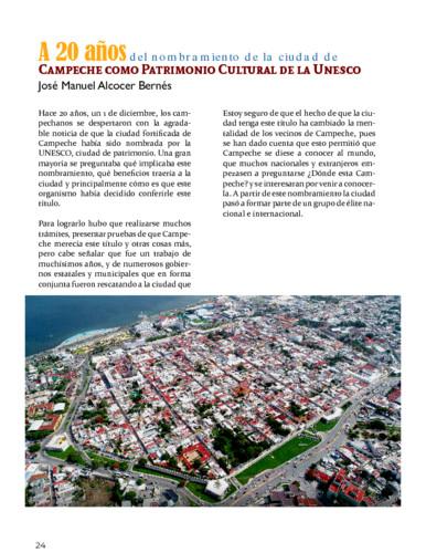 A 20 años del nombramiento de la ciudad de Campeche como Patrimonio Cultural de la Unesco