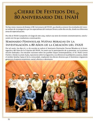 Cierre de festejos del 80 aniversario del INAH