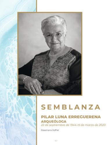 Semblanza Pilar Luna Erreguerena Arqueóloga