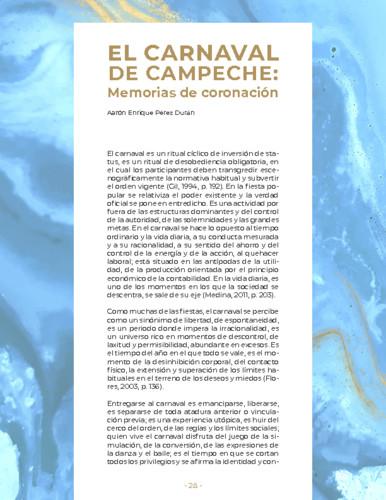 El carnaval de Campeche: Memoria de coronación