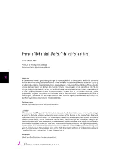 """Proyecto """"Red digital Musicat"""": del cubículo al foro"""