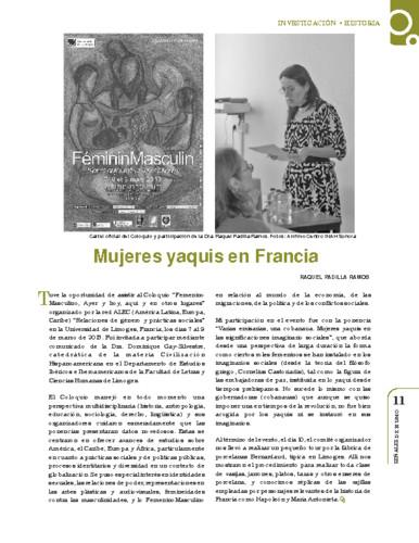 Mujeres yaquis en Francia