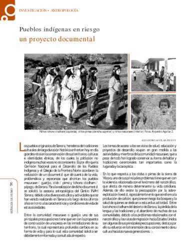 Pueblos indígenas en riesgo un proyecto documental