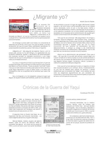 Crónicas de la Guerra del Yaqui