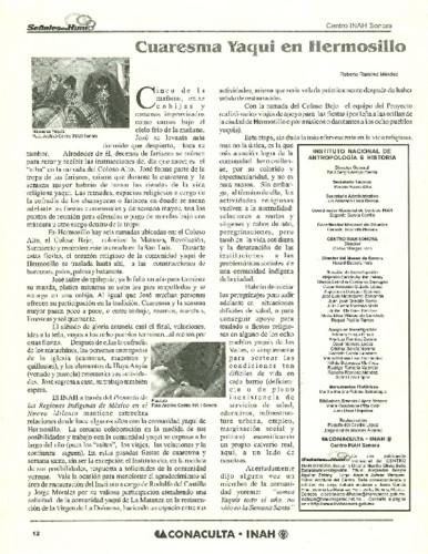 Cuaresma Yaqui en Hermosillo