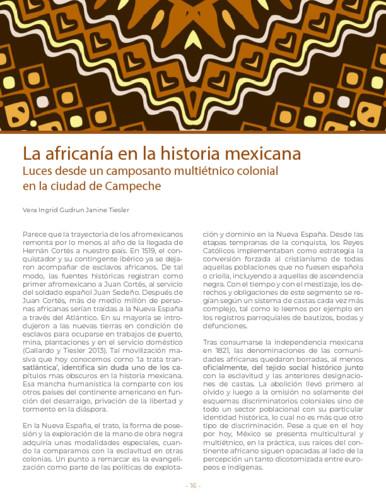 La africanía en la historia mexicana. Luces desde un camposanto multiétnico colonial en la ciudad de Campeche