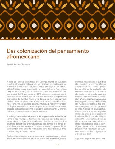 Des colonización del pensamiento afromexicano