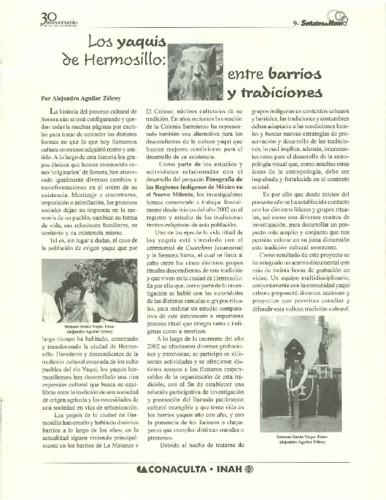 Los yaquis de Hermosillo: entre barrios y tradiciones