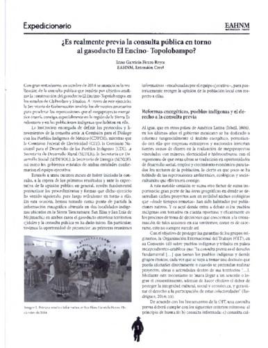 ¿Es realmente previa la consulta pública en torno al gasoducto El Encino-Topolobampo?