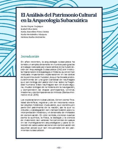 El Análisis del Patrimonio Cultural en la Arqueología Subacuática
