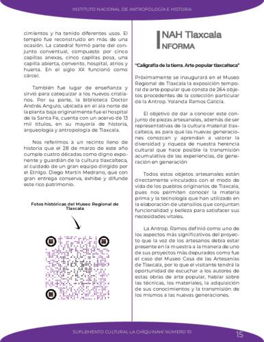 INAH Tlaxcala informa. Caligrafía de la tierra. Arte popular tlaxcalteca