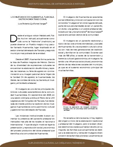 Los muéganos de Huamantla, Tlaxcala. Gastronomía tradicional