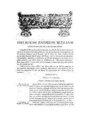 Documentos históricos mexicanos.