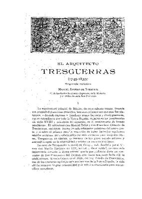 El arquitecto Tres Guerras, 1745-1833.