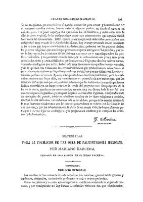Paleontología.- II. Materiales para la formación de una obra de paleontología mexicana.
