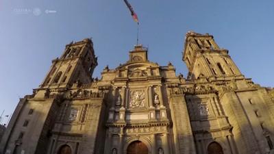 Fe y Caridad, esculturas de Manuel Tolsá son retiradas de la Catedral Metropolitana