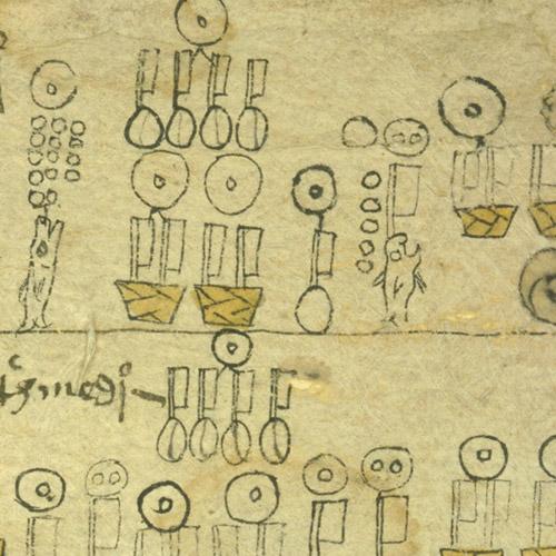 Códices de tributos de Mizquiahuala Poinsett no. 2