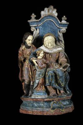 Santa Ana, san Joaquín y la Virgen nilña