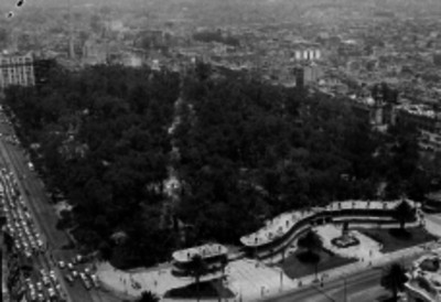 Alameda Central, vista aérea