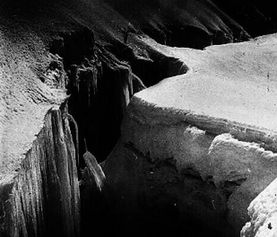 Grieta de un glaciar