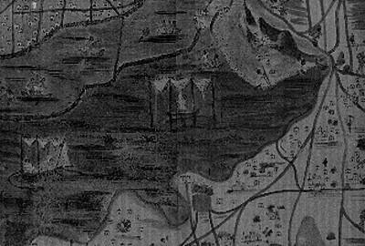 Mapa antiguo mostrando la parte sur de la Ciudad de México