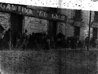 Civiles huyendo por conflicto armado durante Decena Trágica