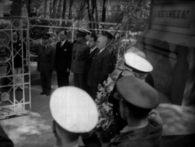 Harry S. Truman rindiendo un homenaje a los Niños Héroes de Chapultepec