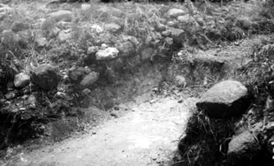 Cala de excavación arqueológica, vista parcial