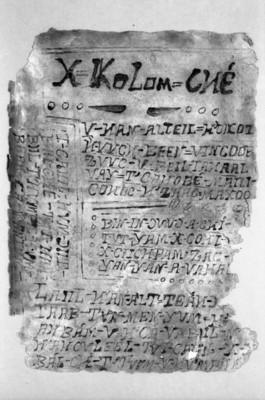 Cantar 1 X-KOLOM-CHE de los Cantares de Dzitbalché