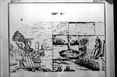 Lámina 2a del Códice Durán, reprografía