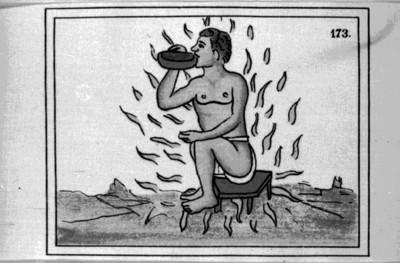 Lámina del Códice Florentino con la representación de la manera de curar enfermedades, reprografía