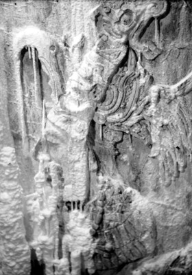 Relieve del interior de la tumba de Pakal